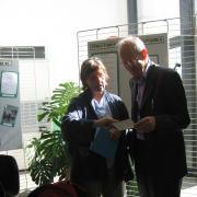 Brigitte Barbu avec l'auteur