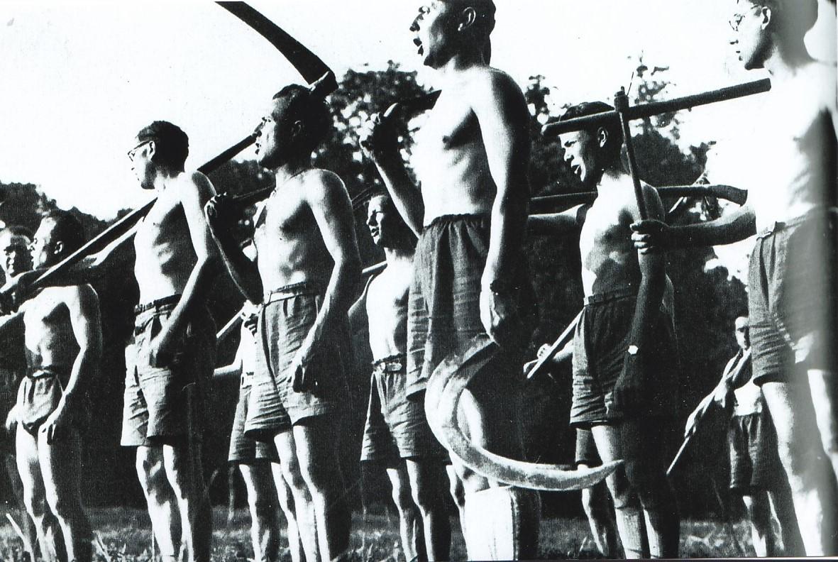 Rassemblement à Randan en 1940