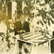 Marcel BARBU avec le président des Aulnays (lotissemnent)