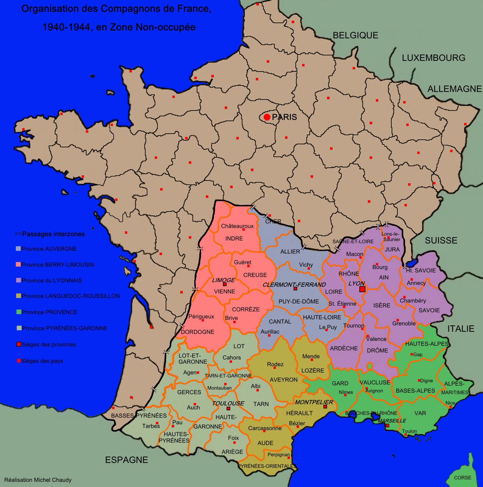 carte des Compagnons de France