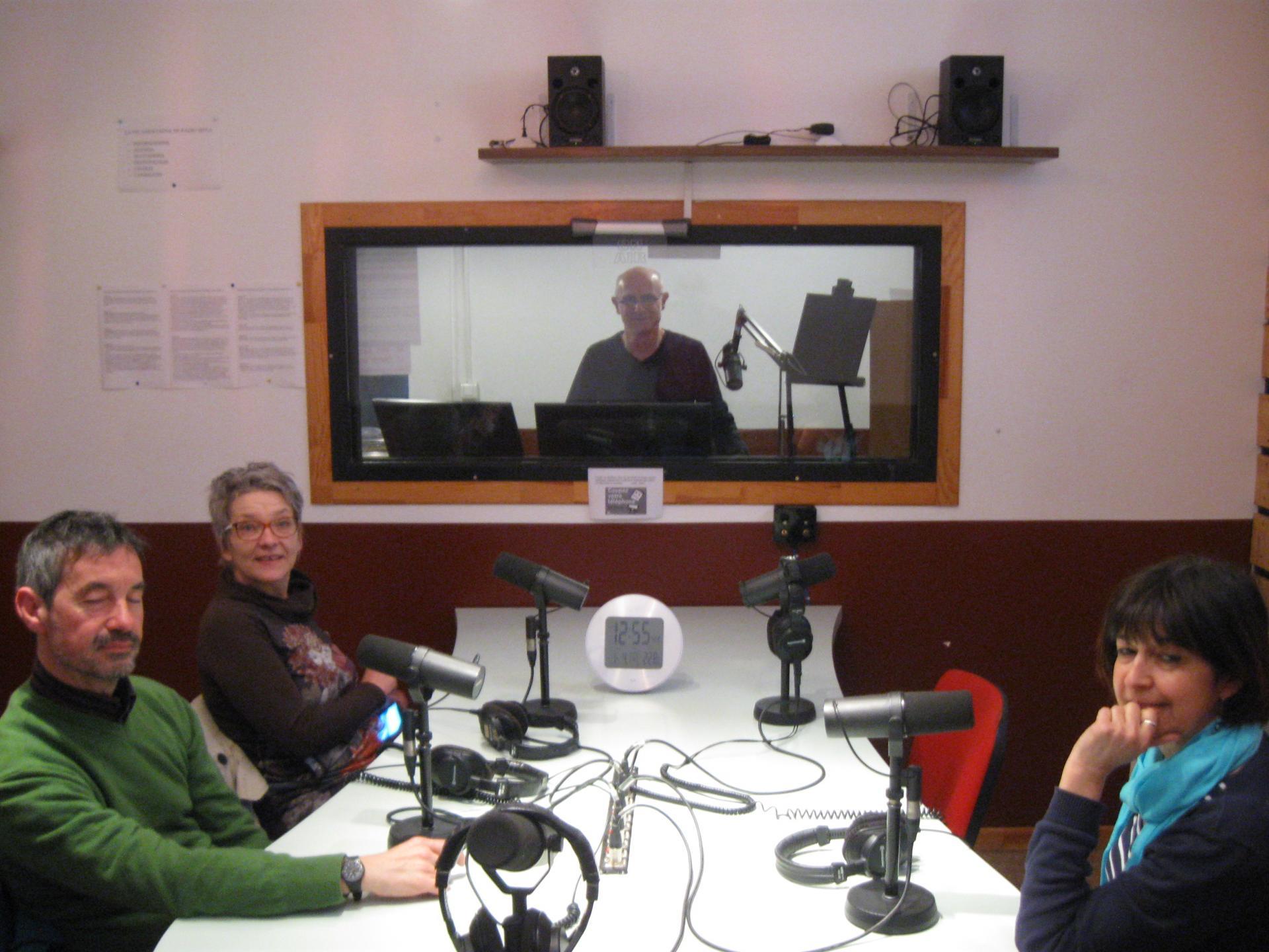 Enregistrement à Radio Méga