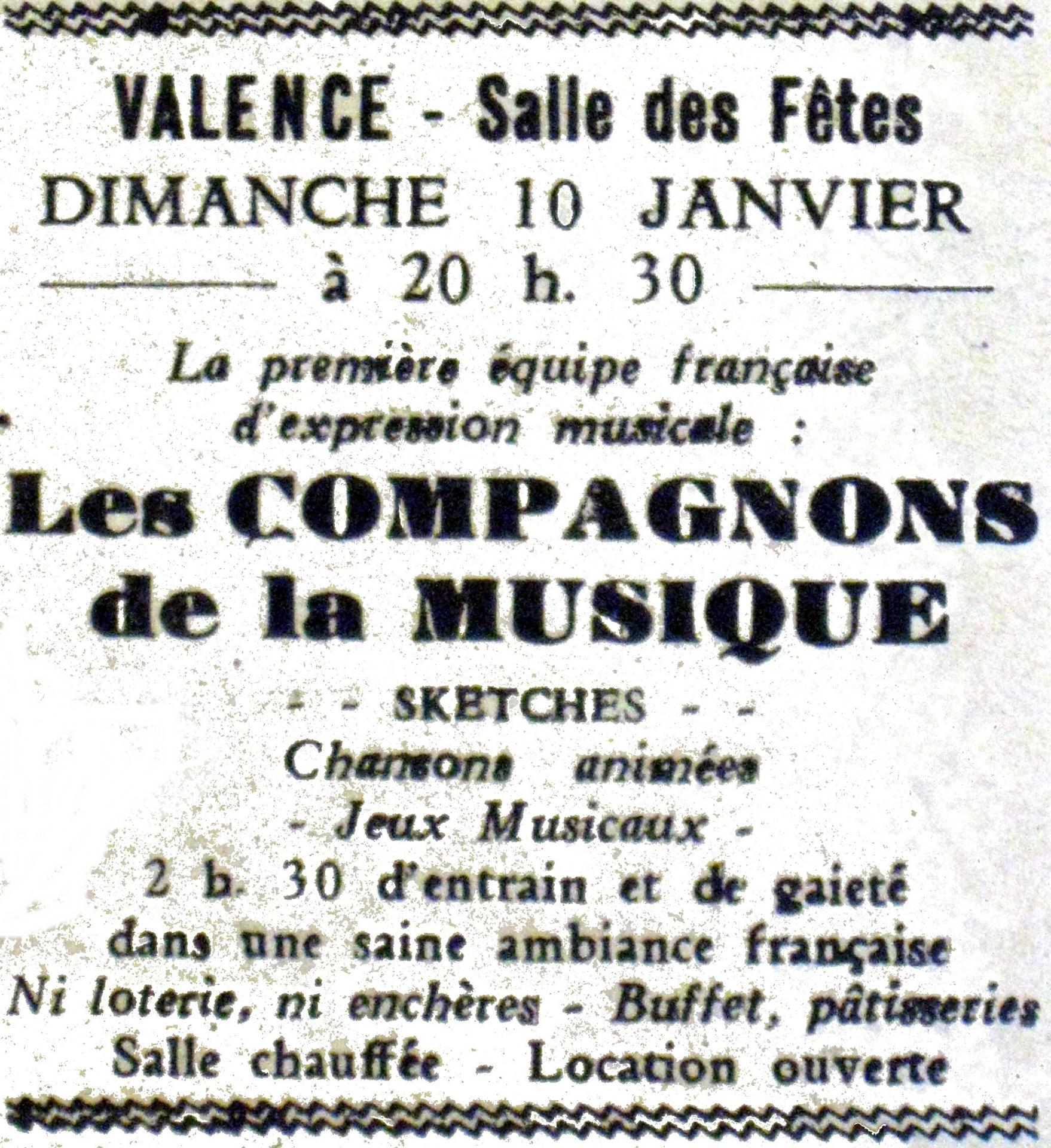 Compagnons de la Musique à Valence
