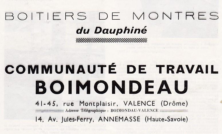 Publicité de Boimondeau