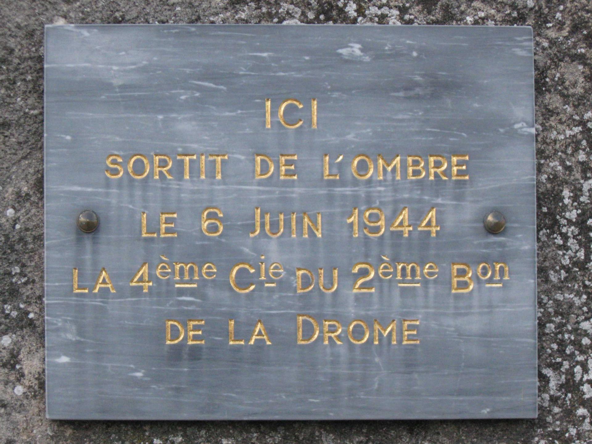 Etoile-sur-Rhône, 4ème compagnie FFI de la Drôme