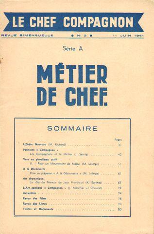 Revue Métier de Chef