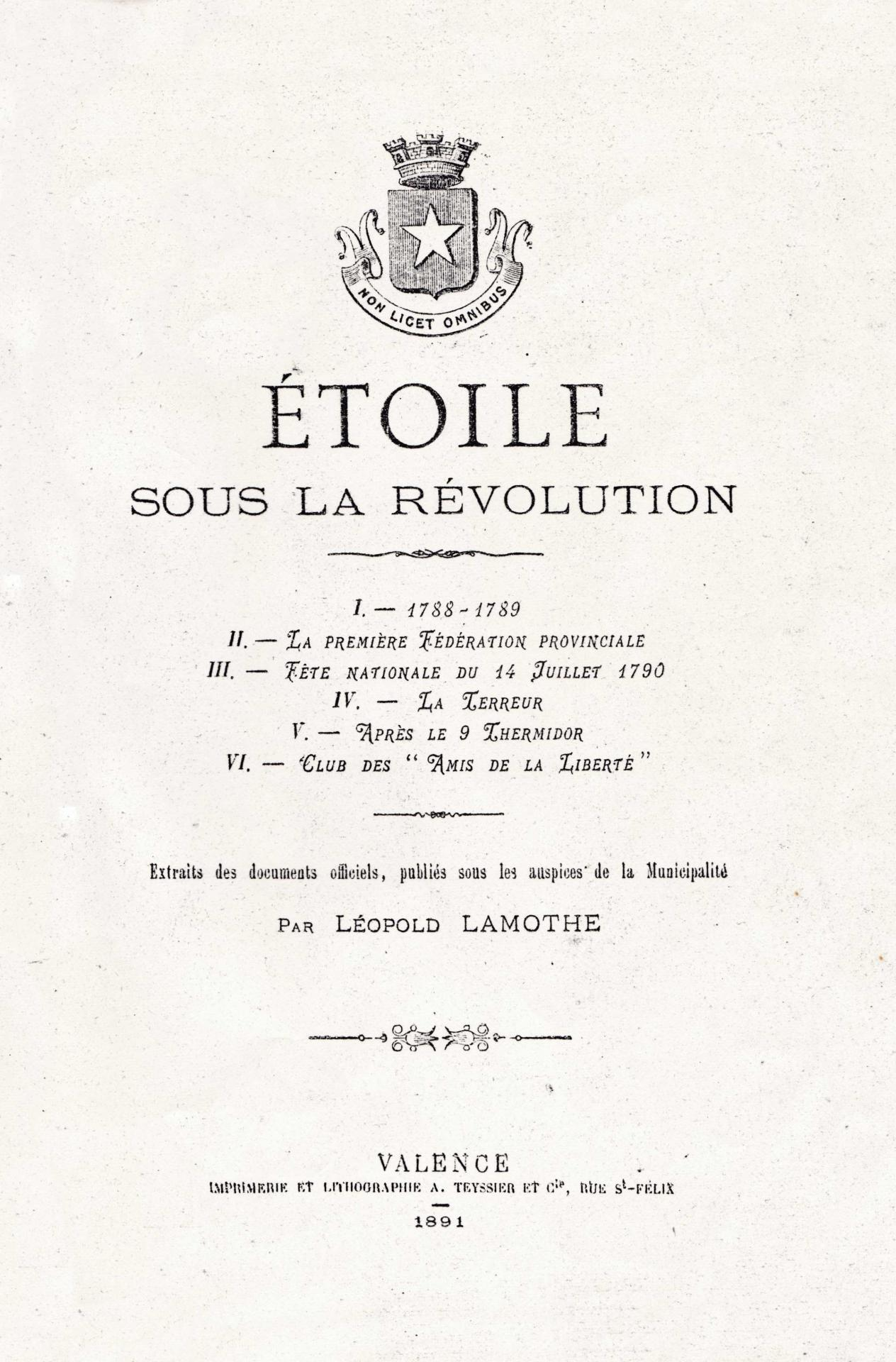 Etoile sous la Révolution, Léopold LAMOTH