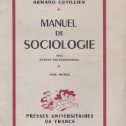 L1954 a cuvillier manuel de sociologie t1