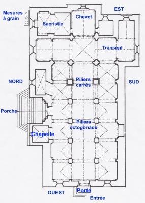 Plan église d'Etoile